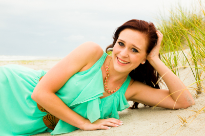 senior portraits at the beach and parks